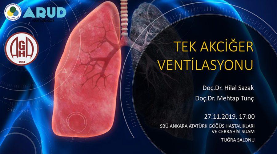Tek Akciğer Ventilasyonu